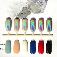 DIY Holographic Laser Nail Art Glitter Basic Powder Chrome Pigment Manicure Deco