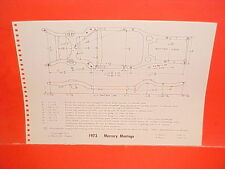 1973 MERCURY MONTEGO MX BROUGHAM GT COUPE SEDAN WAGON FRAME DIMENSION CHART