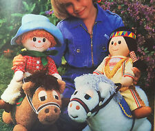 Sewing pattern Jean Greenhowe Wild West Show TOYS COWBOY INDIAN Pony Poneys 46 cm
