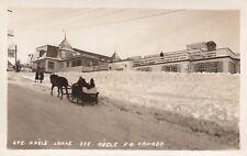 RP, Oxen Sled Cart. Ste. Adele Lodge, STE. ADELE, Quebec, Canada, 1920-1940s