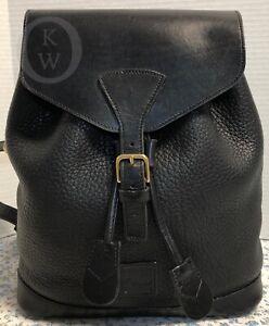 ~Vintage~Dooney & Bourke~Black/Black Backpack*Purse*19270o S181