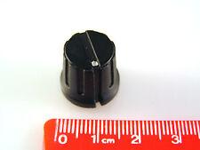 "Ridged Black Control Knob with White Dot 15mm Diam 1/4"" Shaft KN38D OM0325B"