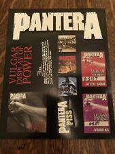 PANTERA 10 Stickers Decal Sheet Promo Collectible Memorabilia FREE SHIPPING