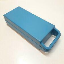 Retro Cassette Tape Storage Carry Case / Blue Storage Case Holds 12 Cassettes