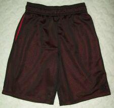 starters boys athletic shorts size medium 8 black mesh red lining pocket sports