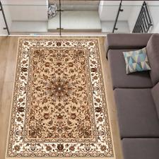 Teppich Persisch Orientalisch Klassisch mit Ornament Wohnzimmer Beige 7 Größen