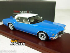 1971 BUICK RIVIERA - 1/43 SCALE TSM MODEL CAR IN BLUE / WHITE 114333