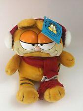 Garfield Holiday Earmuffs 1978 Dakin Plush  Vintage w/Tags  Christmas Scarf