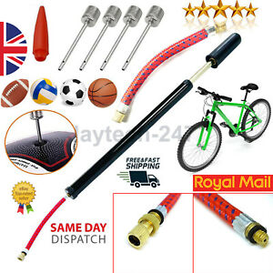 Traditional Style Bike Hand Pump Completed with Schrader Valve Adaptor Slim UK