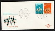 NETHERLANDS EUROPA 1972 FIRST DAY COVER DIAMOND DESIGN
