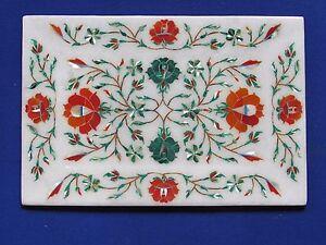 Marble Tray Small Marquetry Mosaic Inlay Semi Precious HANDICRAFT Home Decor