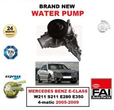 FAI WATER PUMP for MERCEDES BENZ E-CLASS W211 S211 E280 E350 4-matic 2005-2009
