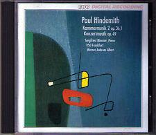 Hindemith musique de chambre concert musique siegfried Mauser CPO CD werner Andreas Albert