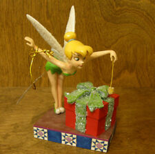 """Jim Shore Disney Traditions #4051970 TINKER BELL w/ GIFT """"PIXIE DUSTED PRESENT"""""""