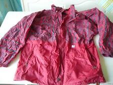 kway veste vintage rouge et gris  T S  se met en boule
