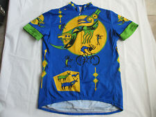 VTG PERFORMANCE TECHNICAL HOPI AMERICAN INDIAN CYCLE JERSEY 3/4 Zip Womens L