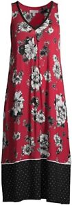 NWT Woman's Size XL 16 - 18 Soft Floral Midi Night Gown NEW