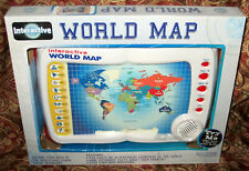 2005 Scientific Toys Interactive World Map Learn Geography 5,000 Quiz Questions