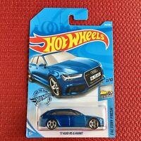 Hot Wheels AUDI RS6 Avant Blue Car Toy Brand NEW