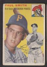 1954 TOPPS SIGNED CARD #11 PAUL SMITH PIRATES PSA DNA GUARANTEE