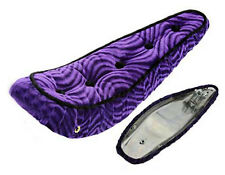 "BICYCLE LOWRIDER BANANA SEAT 5 BUTTON CRUSHED VELVET PURPLE FOR 20"" BIKES NEW"
