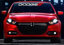 Dodge Front Windshield Banner Decal With Red Hashmarks