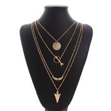 Infinity Charm Arrow Crystal Pendant Multilayer Choker Statement Bib Necklace