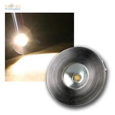 1W LED Faretto a incasso acciaio inox spazzolato ottica, bianco caldo 350mA cc