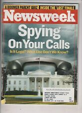 Newsweek Mag Government Spying On Your Calls May 22, 2006 022120nonr