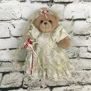 Russ Bride Teddy Bear Plush Brown Standing Stuffed Animal Collectors Vintage