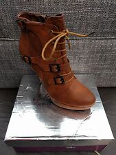 MILANELLI LADIES BROWN HEEL BOOTS SIZE 7 EUR 41 BRAND NEW