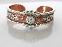 Western Fashion Jewelry Bracelet Cuff Cowgirl Rodeo Copper Silver Hand Engraved