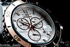 Invicta Mens Pro Diver Swiss 18K RGP Textured Dial Chronograph SS 200 M Watch