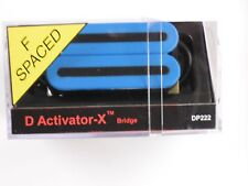 DiMarzio F-spaced D Activator X Bridge Humbucker Blue DP 222