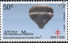 Joaquin de la Cantolla y Rico Balloon Stamp (100 Years of Aviation in Mexico)