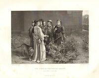 1876 Shakespeare Stampa ~ King Henry VI 1st Parte ~ Scena IN The Temple Giardino