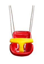 Hiks Red Baby Toddler Child's Adjustable Rope Outdoor Garden Safety Swing Seat