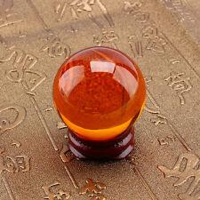 40mm Orange Glass Artificial Magic Crystal Ball Globe Healing Sphere Decoration