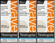3 x NEUTROGENA WAVE® Blackhead Eliminating 30 Refill Pads (Exp 2013)