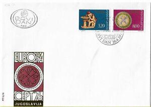 FDC 1976 CEPT Yugoslavia Vintage European Conference Postal Telecommunication