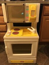 Vintage Little Tikes Child Size Stove With Sink Stove Microwave and Phone