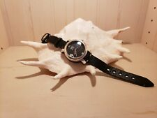 Uno de 50 Watch Chunky Black Face with Black Leather Band