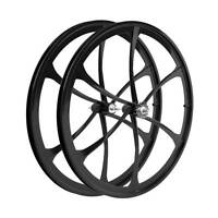 Set Front Rear 28 700c Alloy Magnesium  Ruote 700c Magnesio Fixed Single Speed