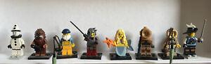 Lego Minifigures Bundle: Bigfoot Samurai Musketeer Mermaid Diver Fisherman Clown