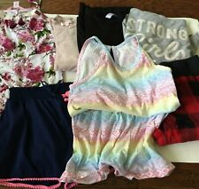 Girls Clothing Lot Bundle Size 10 12 Dress Romper Shorts Hoodie Tops Clothes