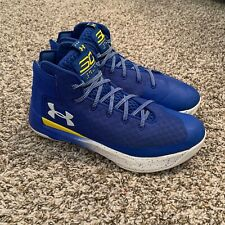 Under Armour Steph Curry 3Zero Mens Size 10 Basketball Shoes Royal Blue NBA