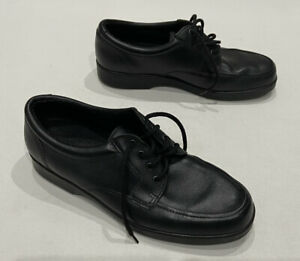 Mens Black Faux Leather LaceUp Smart Casual Comfort Shoes Size UK9 Unbranded