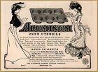 1903 Aluminum Oven Utensils Kitchen  Beautiful Gibson Type Art Golf Print Ad photo