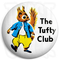 The Tufty Club - Button Badge - 25mm Retro Kids Badges with Fridge Magnet Option