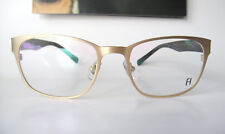 f8581cbebb7 Freudenhaus Titanium 52-19 142 Germany Small Gold Emil Eyeglass Frames Men  Women